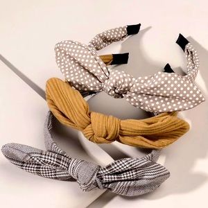 New 3 pcs. Bow Knot Hairbands